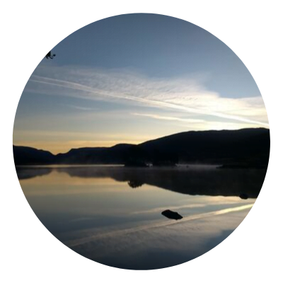 Sunrise at Loch Ossian, Perthshire